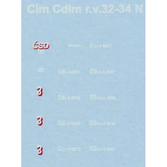 Dekál Clm Cdml 1932-1934  ČSD (N)