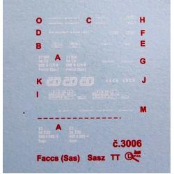 Decal Faccs/Sas ČSD / ČD (TT)