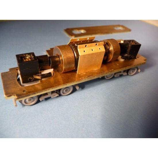 Mosazný rám na lokomotivu T435