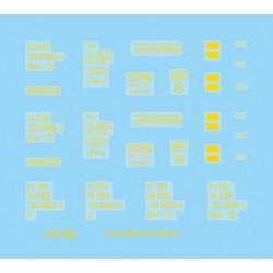 Decal Glm/Zt ČSD yellow (TT)