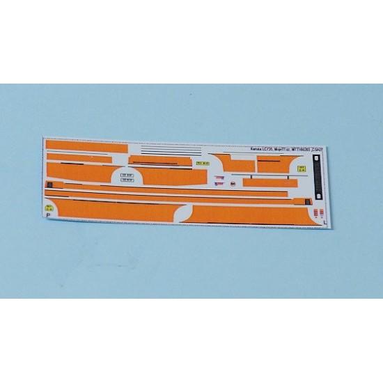 Decal Karosa LC736 orange strips (H0)